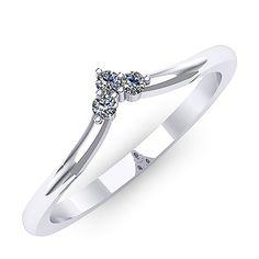 Inel logodna F33ADI * Piatra principala: diamante 3buc x ~1.60mm - greutate: ~0.06ct * Culoare: G, Claritate: SI1, Taietura: rotund briliant Aur, Gold Jewellery, Jewelry, Diamond, Bracelets, Rings, Beauty, Fashion, Accessories