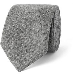 Oliver Spencer Woven Slub Wool Tie
