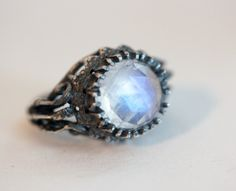 belonging to the darkness. moonstone & sterling silver.. $200.00 bloodmilk.