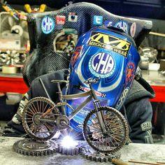 Mountain bike welding miller cold hard art metal art