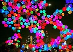 LED Light up Balloons 15 Mixed Color Party Pack