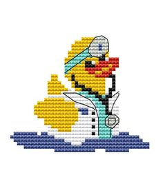 Modern Cross Stitch Kit 'Doctor Duck' CrossStitch Chart - Duck