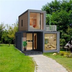 Source expandable flat pack container homes luxury house sale on m. - Source expandable flat pack container homes luxury house sale on m. Building A Container Home, Container Buildings, Container House Plans, 20ft Container, Container Office, Cargo Container Homes, Storage Container Homes, Small House Design, Modern House Design