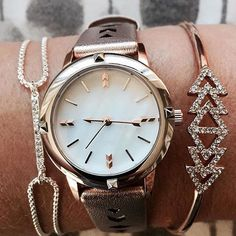 Icon-Convertible Watch in Rose Gold #sdarmparty #sdwatch http://www.stelladot.com/kelseywittner