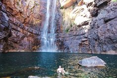 Having a swim at Jim Jim Falls (the biggest waterfall in Kakadu National Park). Northern Territory Australia. via @AussieOverland . #NTAustralia