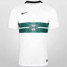 Camisa Nike Coritiba I 2015 s/nº - Branco+Preto