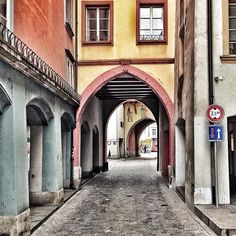The old City - Altstadt - in Aarau, the capital of canton Aargau