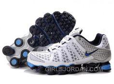 Men s Nike Shox TL Shoes White Navy Light Blue Silver Authentic e41b329e3