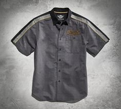 Harley-Davidson® MotorClothes® easily transition between on and off the bike. Tell your story with the Genuine Colorblocked Woven Shirt.