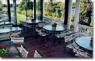 Enjoy a breakfast or meeting in our garden meeting room overlooking the harbor