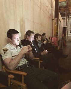 parrish, sheriff stilinski, and nolan