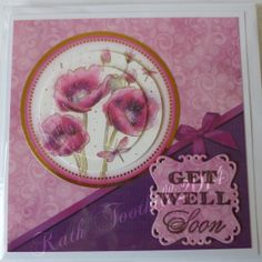 Get well card with Hunkydory image.