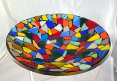 fused glass mosaic bowl by TaylorGlassWorks on Etsy, $65.00