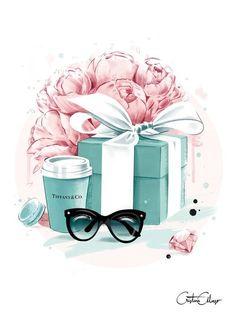 Модные иллюстрации  очки подарок