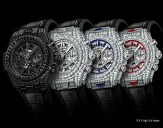 """The Big Bang Unico """"10 years"""" Haute Joaillerie Watches by Hublot"""