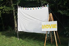 "We Lived Happily Ever After: Make Your Own Outdoor ""Movie Theater!"""