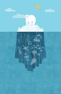 ilustraciones calentamiento global