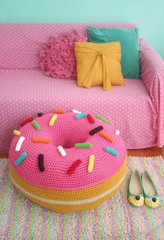 Giant Donut Floor Pouf (from my new book coming out April 2016)!