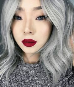 """Linh Phan on Instagram: """"NEW SILVER for @xtianaland! Thanks to my assistant @maayanbescene for giving me a hand on this color! Definitely had to have @Olaplex in the mix to achieve this color. I used all @Schwarzkopfusa for her beautiful SILVER! #BESCENE #XTIANALAND @lasplashcosmetics Poison Apple """""""