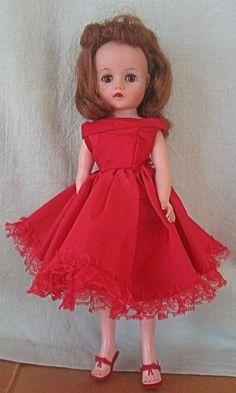 VINTAGE 1958 MISS NANCY ANN 10 1/2 INCH DOLL IN ORIGINAL CLOTHES