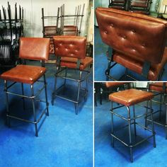 Metal Stool, Metal Chairs, Cafe Furniture, Metal Furniture, Bar Stools, Dining Chairs, Design, Home Decor, Handmade Crafts