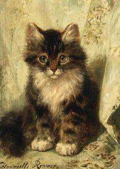 Henrietta Ronner-Knipp, (1821& 1909):Gato.
