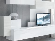 ESSENZA Sectional storage wall by Cucine Lube