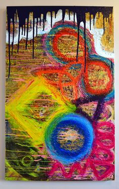 Abstract Painting Original Modern Acrylic Painting by KnottArt, $515.00