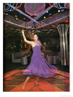 Purple Dress Disco Dancing, my kind of style in the 70s as a disco queen