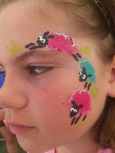 Quick one stroke bunny Easter face paint idea Face Painting