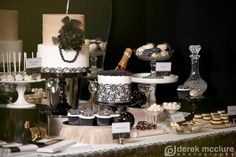 lace lingerie party decorations | Get Your Gatsby On! – A Roaring 20's Dessert Table