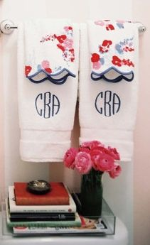 Love the print paired back to the monogram