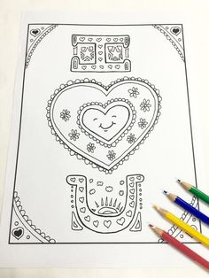 i love you coloring page valentines day adult by shamvandamn