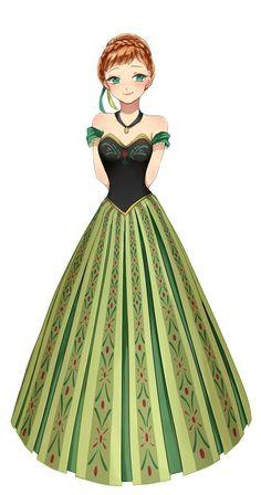 Princess Anna Frozen 2013, Anna Frozen, Disney Frozen, Frozen Anime, Disney Films, Disney Art, Disney Pixar, Disney Characters, Freezing Anime
