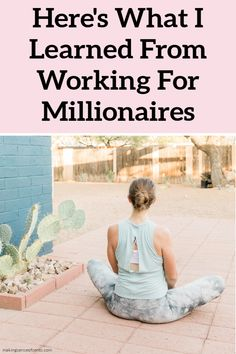Here's What I Learned From Working For Millionaires. As an analyst, I worked for wealthy and successful people every day. I learned a lot about rich habits of successful people and it's very interesting! #moneymanagementtips #tips