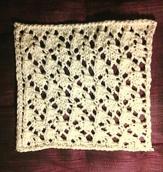 Happy Wanderer Cloth By Wendy M. Anderson - Free Knitted Pattern - (ravelry)