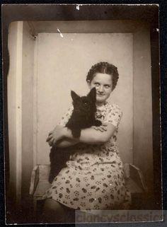 1940s Photo Booth  Exposed  Girl & Scottie