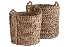 Seagrass Basket, Set of 2 on One Kings Lane today