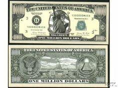 25 Tom Petty MONEY NOVELTY FAKE WHOLESALE LOT  MILLION DOLLAR BILLS 25