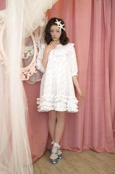 frill doll one-piece (snow white) - RoseMarie seoir