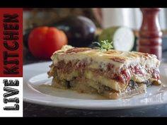 Εκπληκτικός Μουσακάς - How to make Greek Moussaka - Live Kitchen Moussaka, Kitchen Living, Lasagna, Quiche, French Toast, Sandwiches, Food And Drink, Pie, Breakfast