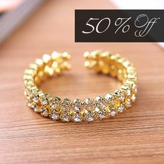 50% Off Crystal Cuff Bling Bracelet
