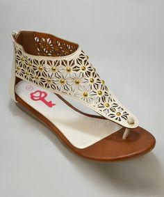 This White Rosemund Sandal is perfect! #zulilyfinds
