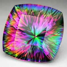 16.10ct. EXOTIQUE MYSTIC TOPAZ CUSHION CONCAVE VVS LOOSE GEMSTONE coussin topaze