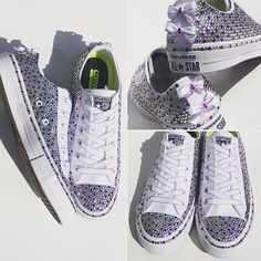 Beautiful Wedding Blinged Converse! I think I'm in love  !#wedding #weddingshoes #converse #customconverse #trickedkicks
