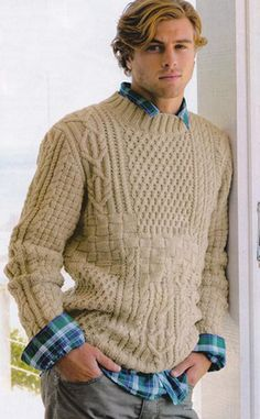 Men's Hand Knitted Turtleneck Sweater 25B