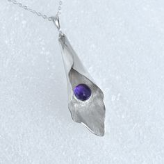 Amethyst Pendant, Purple Pendant, Amethyst Necklace, Purple Necklace, February…
