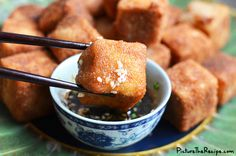 Spicy crumbed tofu with soy ginger sauce