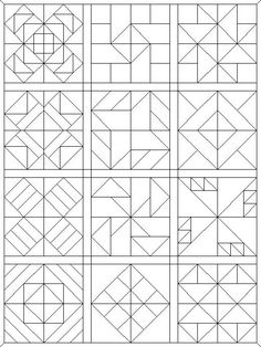 coloring pages quilt blocks 09 More