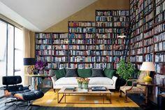 интерьер гостинной с библиотекой - Поиск в Google